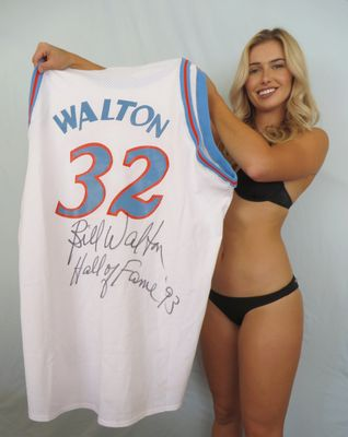 Bill Walton autographed 1979-80 San Diego Clippers Mitchell and Ness jersey inscribed Hall of Fame '93
