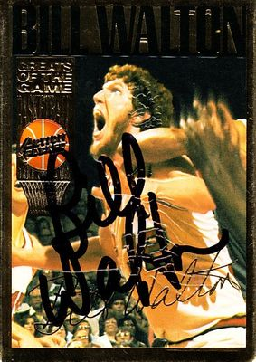 Bill Walton autographed 1994 Action Packed Basketball Hall of Fame card