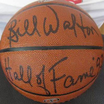 Bill Walton autographed Spalding NBA basketball inscribed Hall of Fame '93