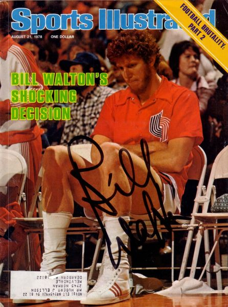Bill Walton autographed Portland Trail Blazers 1978 Sports Illustrated