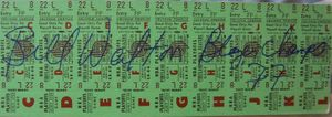 Bill Walton autographed Portland Trail Blazers NBA Playoffs tickets inscribed Blazers Champs '77
