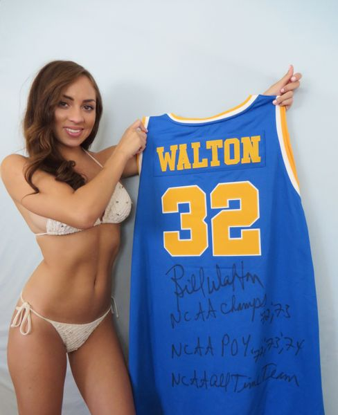 Bill Walton autographed UCLA Bruins Adidas True School Authentics throwback jersey with 4 inscriptions
