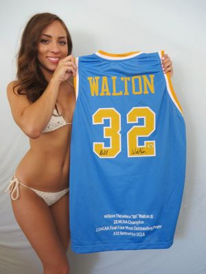 Bill Walton autographed UCLA Bruins embroidered throwback jersey