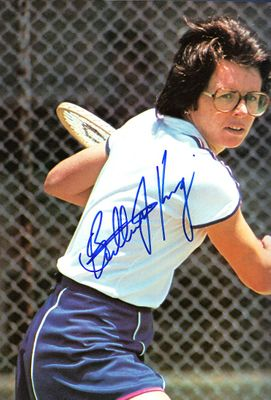 Billie Jean King autographed Play Better Tennis hardcover book