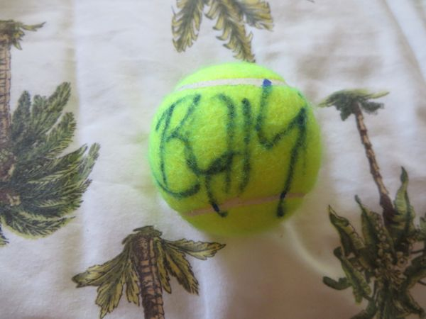Billie Jean King autographed tennis ball