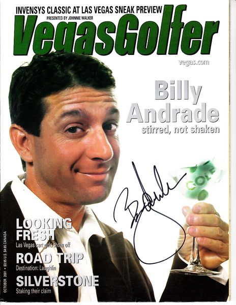 Billy Andrade autographed 2001 Vegas Golfer magazine