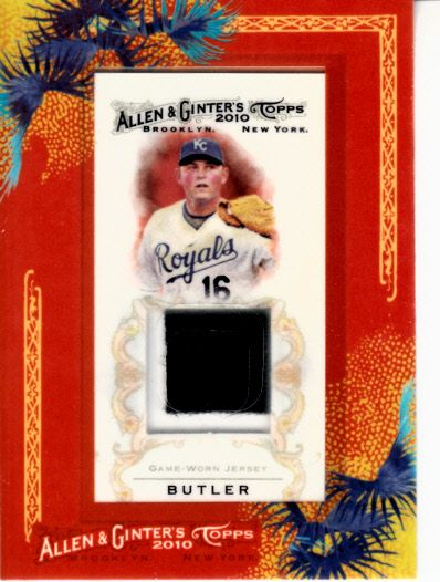 Billy Butler Kansas City Royals 2010 Topps Allen & Ginter game worn jersey card