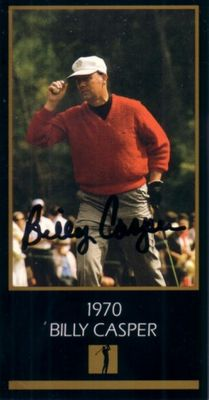 Billy Casper autographed 1970 Masters Champion golf card