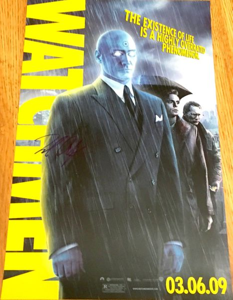 Billy Crudup autographed Watchmen Dr. Manhattan 2009 original mini movie poster
