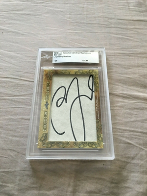 Billy Joel 2018 Leaf Masterpiece Cut Signature certified autograph card 1/1 JSA