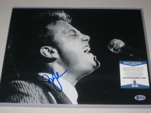 Billy Joel autographed 11x14 vintage black and white photo (BAS authenticated)