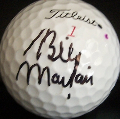 Billy Mayfair autographed 2011 Farmers Insurance Open tournament used Titleist golf ball