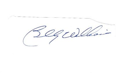 Billy Williams autograph or cut signature mounted on 3x5 index card