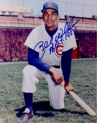Billy Williams autographed Chicago Cubs 8x10 photo inscribed HOF 1987