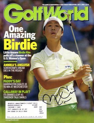 Birdie Kim autographed 2005 U.S. Women's Open Golf World magazine