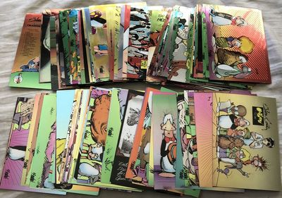 Bloom County Outland 1995 Chromium complete set of 100 trading cards with foil wrapper