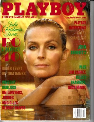 Bo Derek December 1994 Playboy magazine (creased cover)
