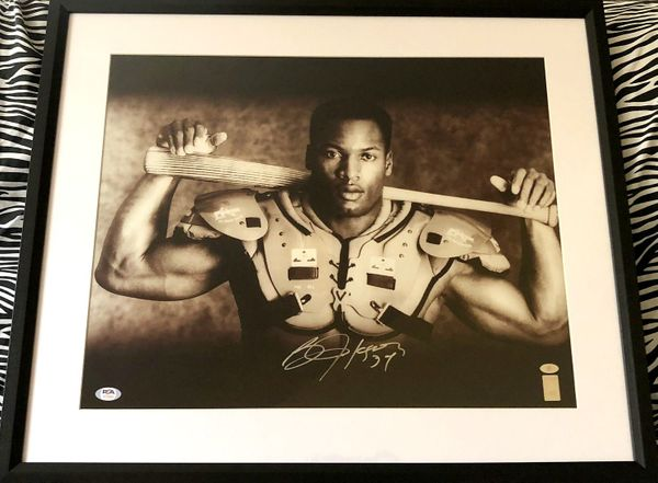 Bo Jackson autographed Bo Knows 16x20 poster size Nike baseball and football photo matted and framed (PSA/DNA)