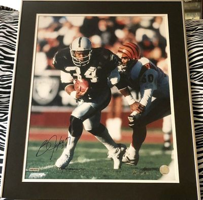 Bo Jackson autographed Raiders 16x20 poster size photo matted and framed (UDA)