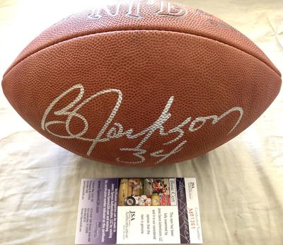 Bo Jackson autographed Wilson NFL leather game model football (JSA)