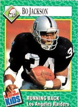 Bo Jackson Raiders 1990 Sports Illustrated for Kids card