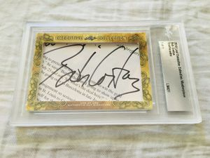 Bob Costas 2018 Leaf Masterpiece Cut Signature certified autograph card 1/1 JSA