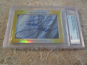 Bob Cousy and Frank Ramsey 2014 Leaf Masterpiece Cut Signature certified autograph card 1/1 JSA