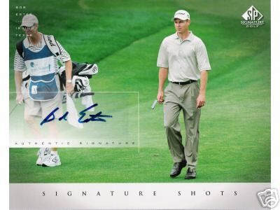 Bob Estes certified autograph 2004 SP Signature Golf 8x10 photo card