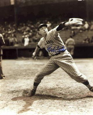 Bob Feller autographed Cleveland Indians 8x10 photo
