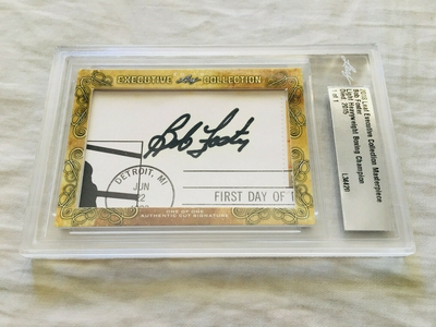 Bob Foster 2018 Leaf Masterpiece Cut Signature certified autograph card 1/1 JSA