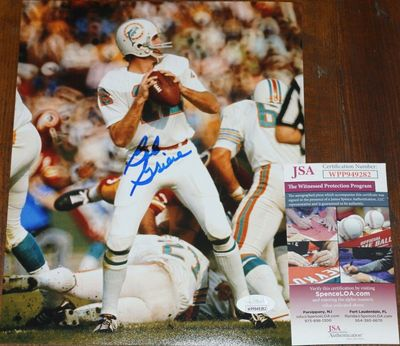 Bob Griese autographed Miami Dolphins 8x10 photo (JSA Witnessed)