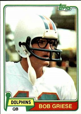 Bob Griese Miami Dolphins 1981 Topps card #482 NrMt-Mt