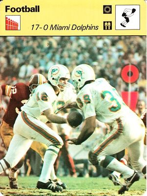 Bob Griese & Larry Csonka 1972 Miami Dolphins 17-0 1979 Sportscaster card