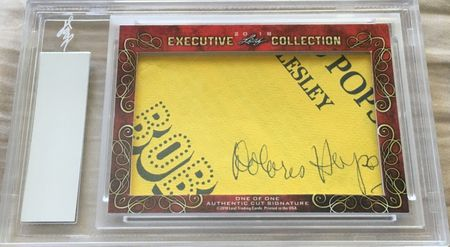 Bob Hope and Delores Hope 2018 Leaf Masterpiece Cut Signature certified autograph card 1/1 JSA