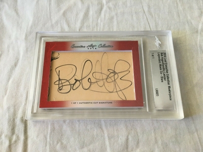 Bob Hope and Dorothy Lamour 2016 Leaf Masterpiece Cut Signature certified autograph card 1/1 JSA