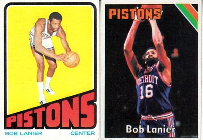Bob Lanier 1972-73 and 1975-76 Topps basketball 2 card lot
