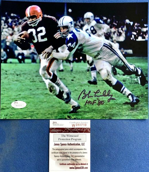 Bob Lilly autographed Dallas Cowboys 8x10 photo inscribed HOF '80 (JSA Witnessed)