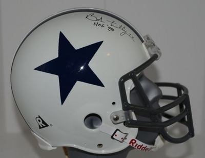 Bob Lilly autographed Dallas Cowboys authentic full size Pro Line throwback helmet