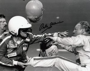 Bobby Allison autographed 1979 Daytona 500 fight 8x10 photo