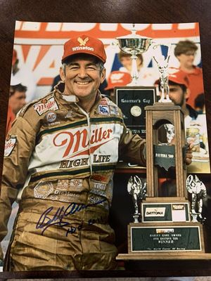 Bobby Allison autographed 1988 Daytona 500 8x10 trophy photo inscribed HOF 2011
