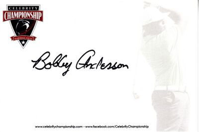 Bobby Anderson autographed 4x6 signature card
