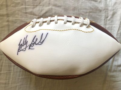 Bobby Bell autographed full size white panel football
