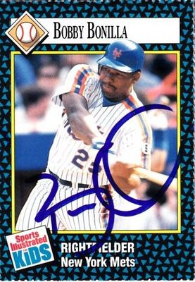 Bobby Bonilla autographed New York Mets 1992 Sports Illustrated for Kids card