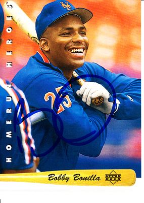 Bobby Bonilla autographed New York Mets 1993 Upper Deck Home Run Heroes card