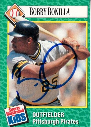 Bobby Bonilla autographed Pittsburgh Pirates 1990 Sports Illustrated for Kids card