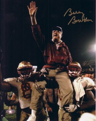 Bobby Bowden autographed Florida State Seminoles 8x10 victory wave photo