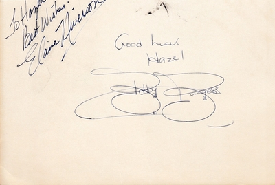 Bobby Burgess and Elaine Niverson autographs or cut signatures