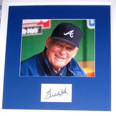 Bobby Cox autograph matted & framed with Atlanta Braves 8x10 photo