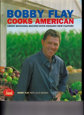 Bobby Flay autographed Bobby Flay Cooks American hardcover cookbook (For Linda)