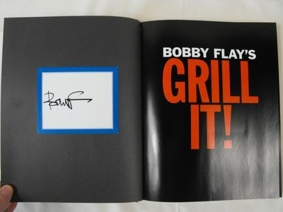 Bobby Flay autographed Grill It! hardcover cookbook